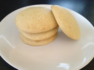Lime and Vanilla Cookies
