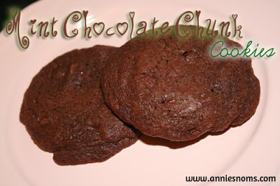 Mint Chocolate Chunk Cookies