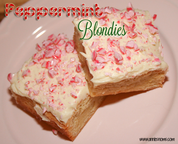 Peppermint Blondies