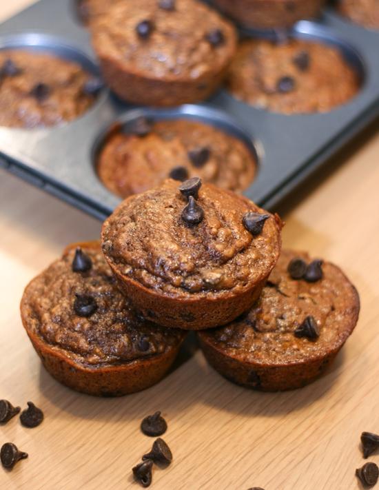 Mocha Oatmeal Muffins