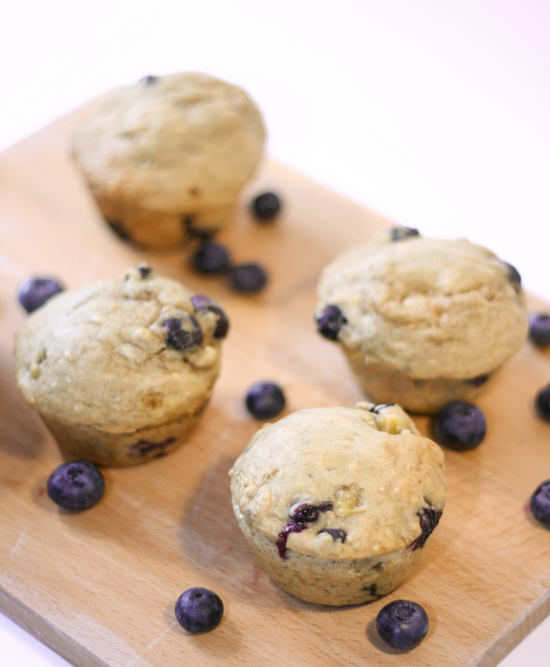 Blueberry and Banana Muffins