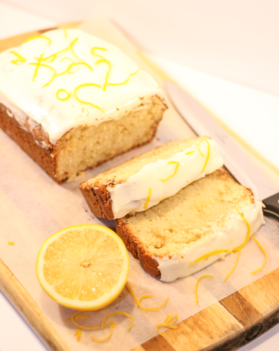 Lemon and White Chocolate Loaf Cake