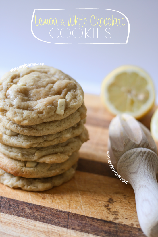 Lemon and White Chocolate Cookies