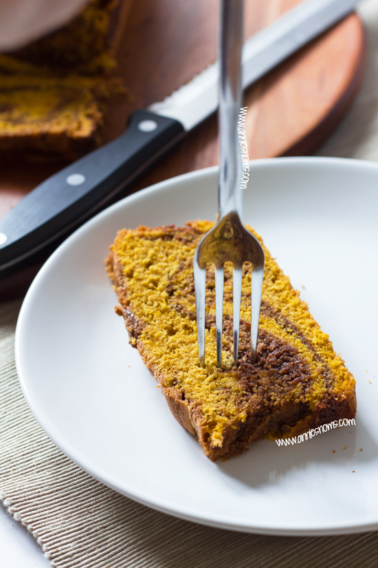 Pumpkin Chocolate Swirl Loaf Cake