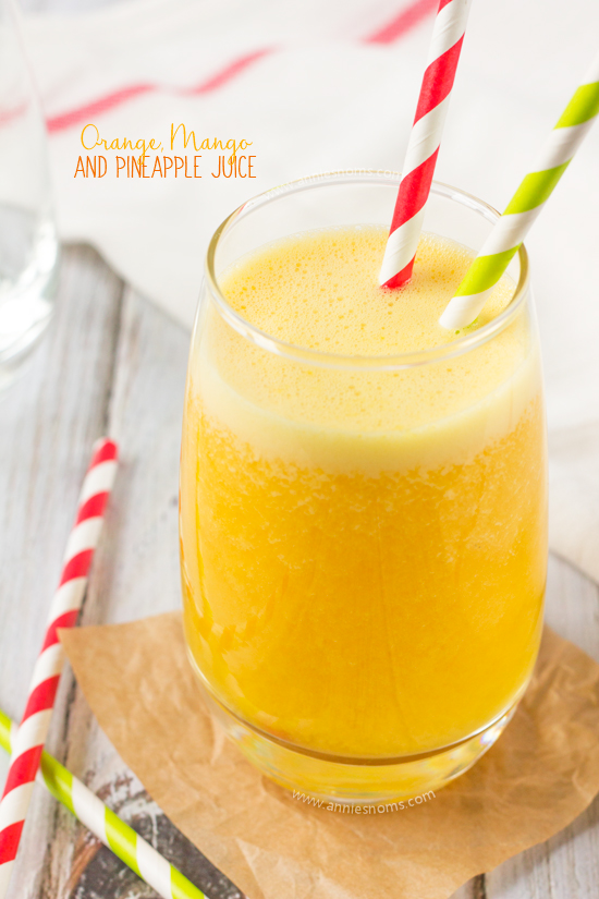 This Orange, Mango and Pineapple Juice is super quick to make in your juicer and packs a flavour punch. It's also jam packed with Vitamin C - the perfect healthy juice to help you ward of Winter colds!