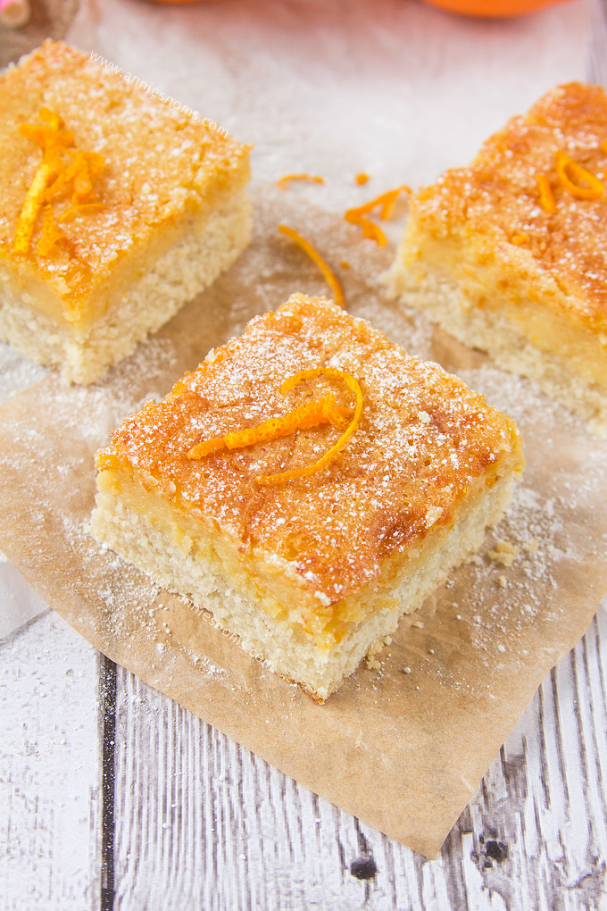 My Orange Pie Bars are just perfect for when you want pie, but are short on time or don't want a whole slice! No waiting time, the pastry goes straight in to bake before being covered in a luscious, fresh, orange topping and being baked again. Fresh, simple and delicious!