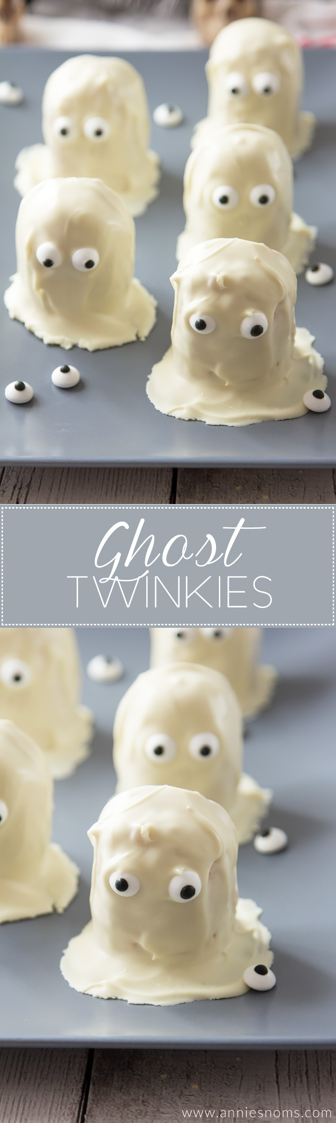 These Ghost Twinkies have to be the most cute and fun Halloween treat with only three ingredients! They're also no bake and easy enough that the kids can get involved!