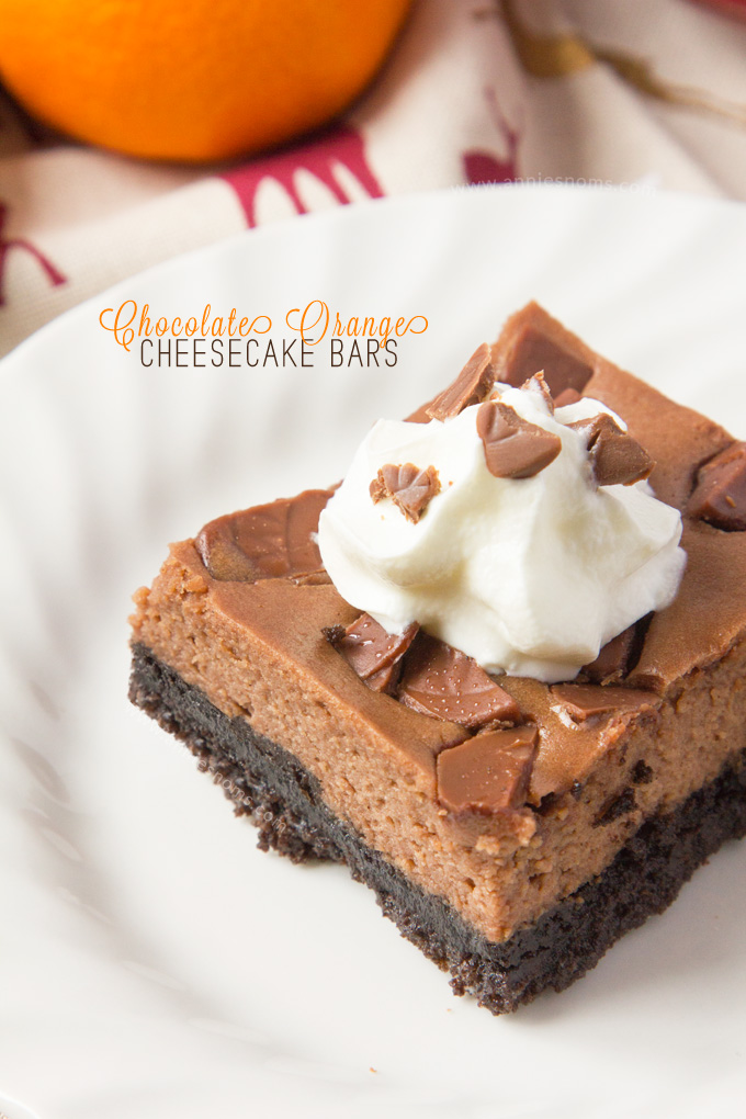 Chocolate Orange Cheesecake Bars Recipe